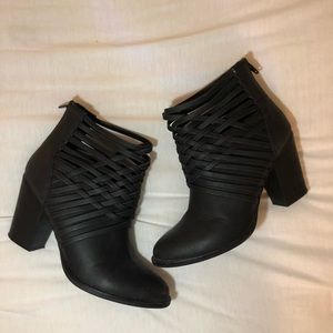 Black Strappy Bootie